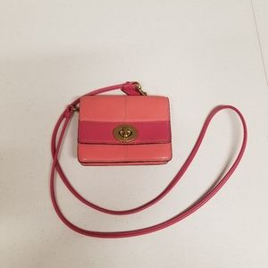 Vintage Pink Leather Coach Cross Body Rare!